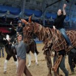 Daisy riding War Horse at Olympia Horse Show