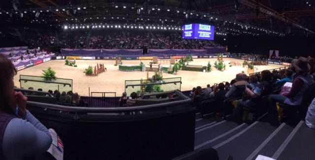 The HOYS International arena set up for the Cuddy Working Hunter final