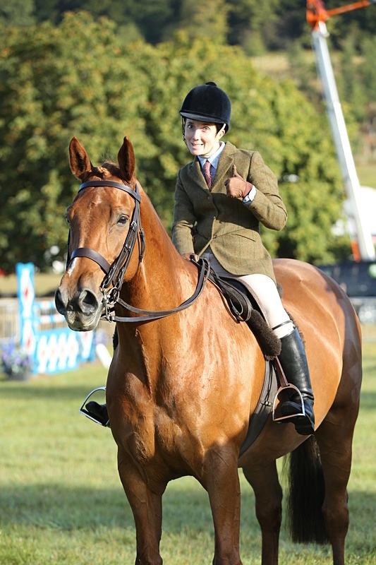 Daisy and LVS Jackpot smiling in the ring at Henley Show
