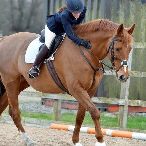 Daisy Smith riding LVS Jackpot