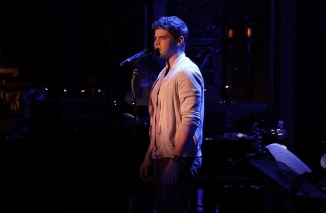 Jeremy Jordan singing